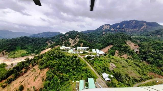 Quang cảnh xã Phước Lộc, Phước Thành nhìn từ trên cao.