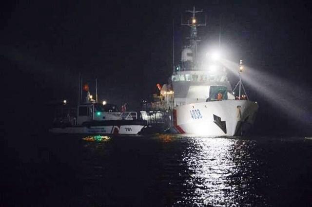 Nơi tàu hàng Thành Hưng 08 gặp nạn trên biển.