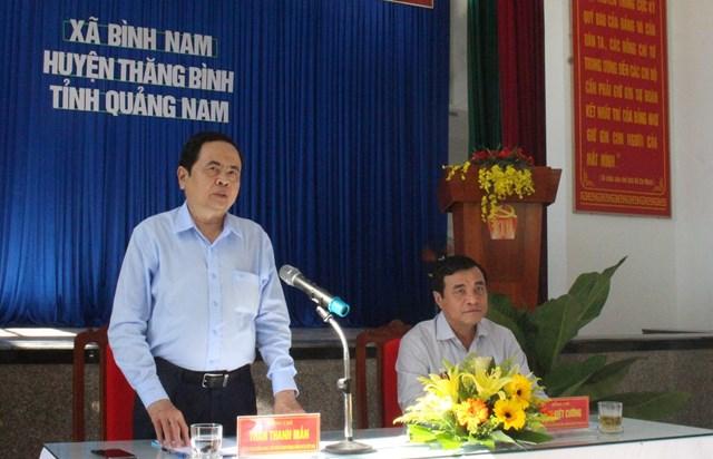 Chủ tịch Trần Thanh Mẫn phát biểu tại buổi làm việc.