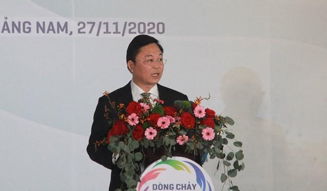 Ông Lê Trí Thanh, Chủ tịch UBND tỉnh Quảng Nam phát biểu tại Diễn đàn.
