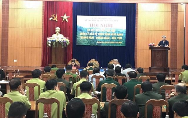 Hội nghị kết kết Quy chế phối hợp QLBVR giáp ranh của 3 tỉnh.