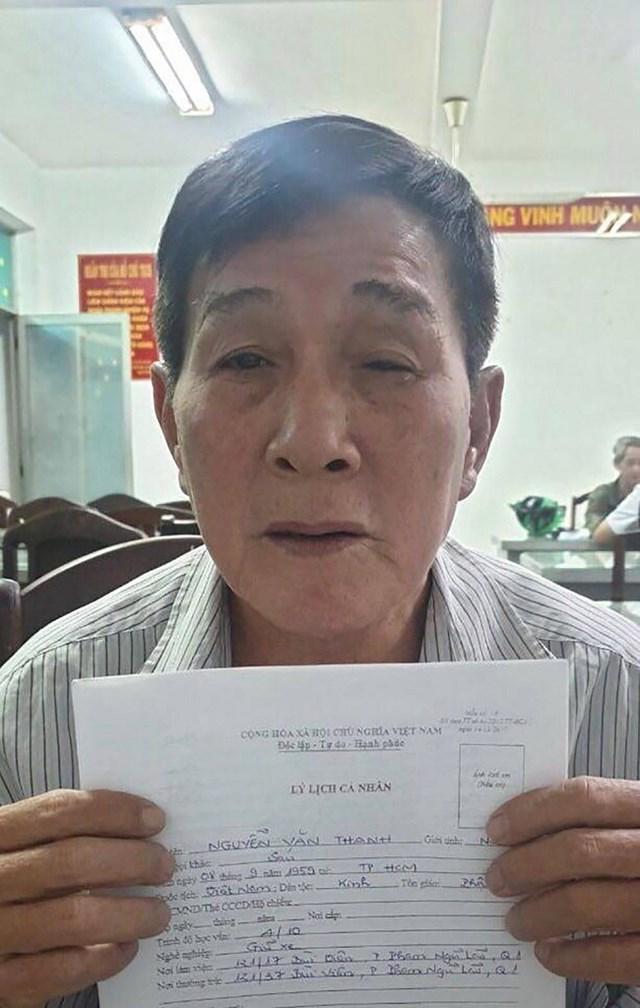 Đối tượng Nguyễn Văn Thanh tại cơ quan chức năng.