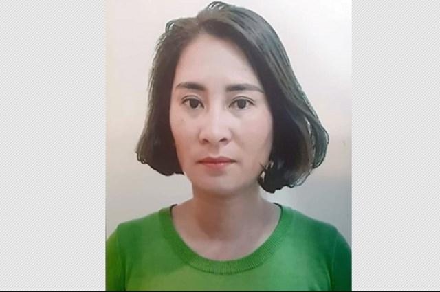 Đối tượng Trương Thị Quyên tại cơ quan chức năng.
