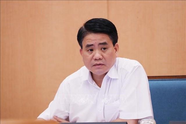 Cựu Chủ tịch UBND TP Hà Nội Nguyễn Đức Chung. Ảnh: TTXVN