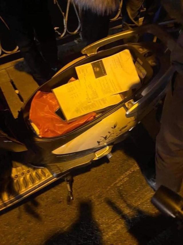 Trong cốp xe của nạn nhân phát hiện tờ giấy kết quả siêu âm thai nhi đã 6 tuần tuổi