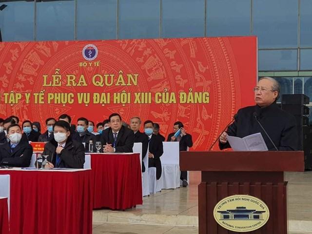 Ông Trần Quốc Vượng, Uỷ viên Bộ Chính trị, Thường trực Ban Bí thư phát biểu.