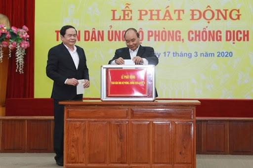 UBTƯ MTTQ Việt Nam phát động toàn dân ủng hộ phòng chống Covid-19.