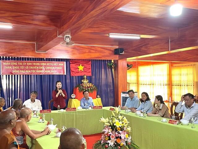Phó Chủ tịch Trương Thị Ngọc Ánh phát biểu.