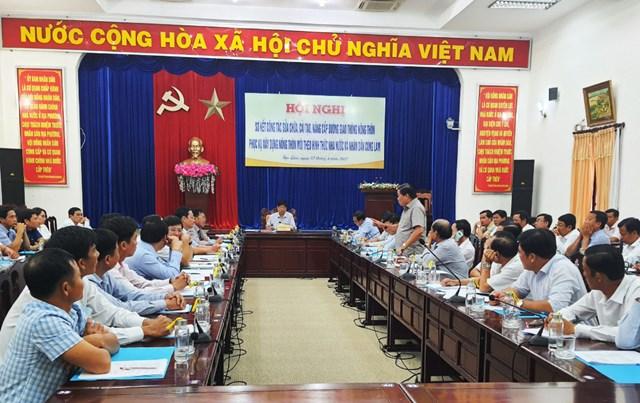 Hội nghị triển khai kế hoạchsửa chữa, cải tạo, nâng cấp đường giao thông nông thôn.
