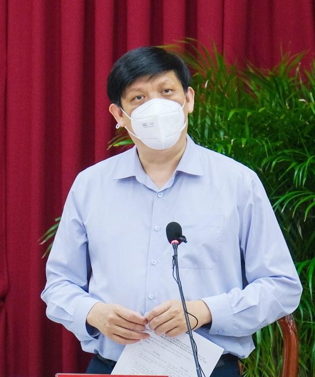 Bộ Trưởng Nguyễn Thanh Long phát biểu tại buổi làm việc.