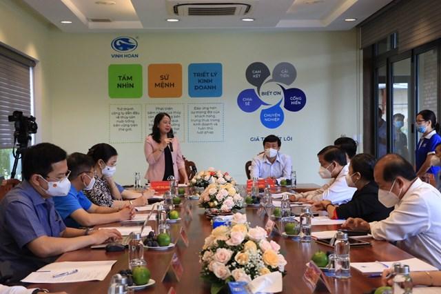 Phó Chủ tịch nước Võ Thị Ánh Xuân phát biểu tại buổi làm việc với lãnh đạo tỉnh Đồng Tháp.