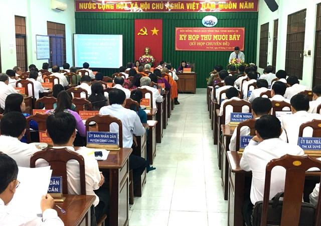 Kỳ họp thứ 17,HĐND tỉnh Trà Vinh khóa IX