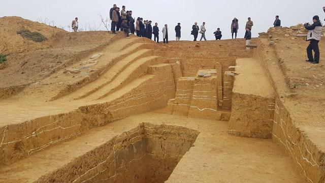 Kết quả khai quật gần đây đã chứng minh giá trị đặc biệt của di sản văn hoá nhân loại thành nhà Hồ. Ảnh: A.T.