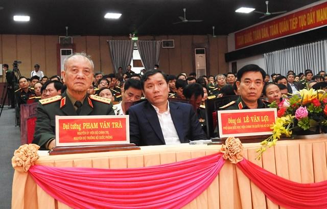 Nguyên Ủy viên Bộ Chính trị, nguyên Bộ trưởng Bộ Quốc phòng, Đại tướng Phạm Văn Trà tham dự Hội thảo. Ảnh: Thanh Tùng.