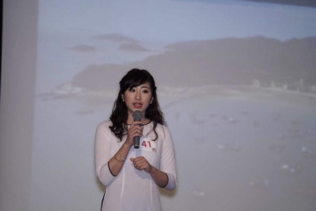 """Kiều Trang du học sinh Việt tại Nhật nói về dự án """"Book for Love"""", mở những tủ sách cho học sinh tại các làng quê. Ảnh: NVCC."""
