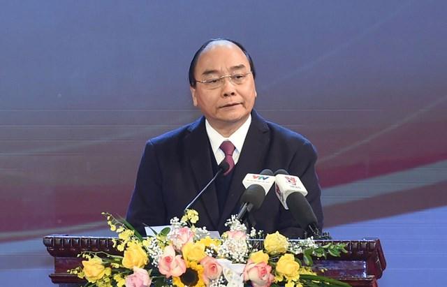 Thủ tướng Nguyễn Xuân Phúc phát biểu tại buổi lễ. Ảnh: Quang Vinh.