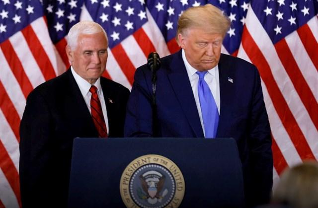 Tổng thống Trump và Phó Tổng thốngMike Pence trong một sự kiện tranh cử vào năm 2020. Ảnh: AP.