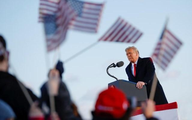 Tổng thống Mỹ Donald Trump phát biểu tại Căn cứ Liên hợp Andrews, Maryland, ngày 20/1/2021. Ảnh: Reuters.