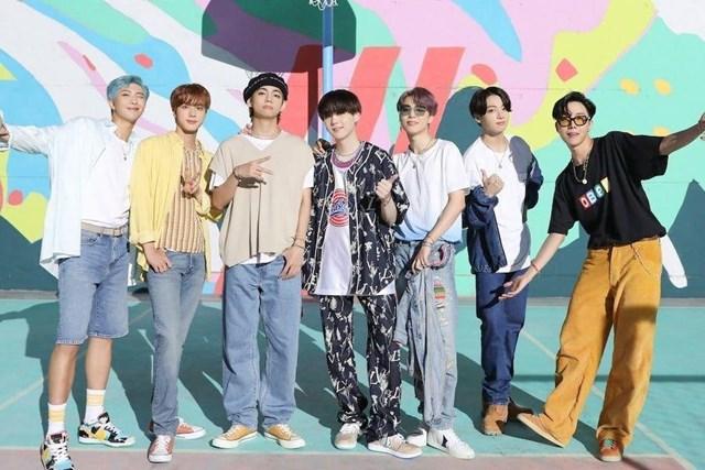 Các chàng trai của ban nhạc đình đám BTS.