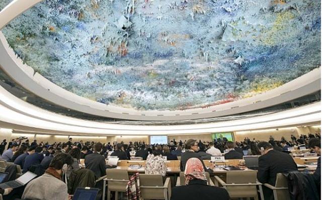 Quang cảnh một phiên họp của Hội đồng Nhân quyền Liên hợp quốctại Geneva, Thụy Sĩ. Nguồn: Reuters.