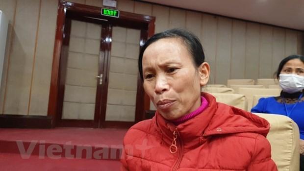 Bà Nguyễn Thị Lừng (Bắc Giang) cũng vừa phải trải qua nỗi đau mất con đột ngột. (Ảnh: PV/Vietnam+).