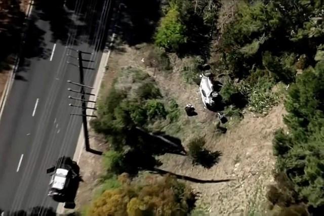 Vụ tai nạn khi nhìn từ trên cao.