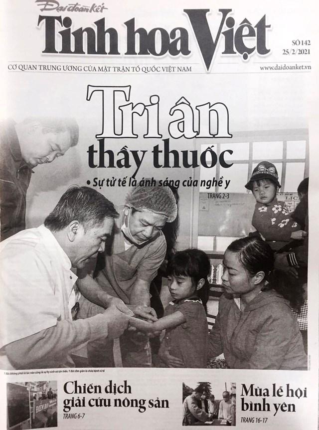 Trang bìa Tinh Hoa Việt số 142.