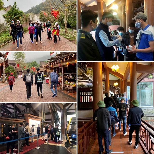 Hơn 800 lượt khách đổ về Khu di tích lịch sử danh thắng Yên Tử trong ngày thứ 7 (6/3).