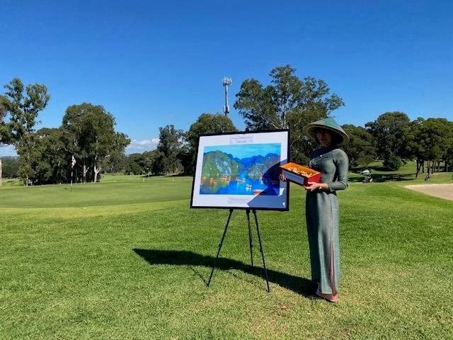 Sản phẩm gừng Việt được quảng bá tại giải golf ở Parramatta.