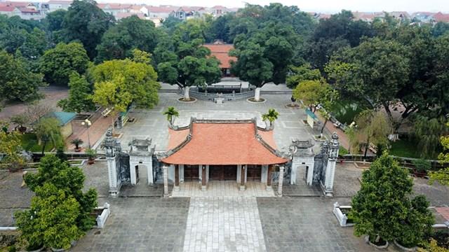 Đền thờ Hai Bà Trưng - di tích Quốc gia đặc biệt, ở huyện Mê Linh, Hà Nội. Ảnh: Công Hùng.