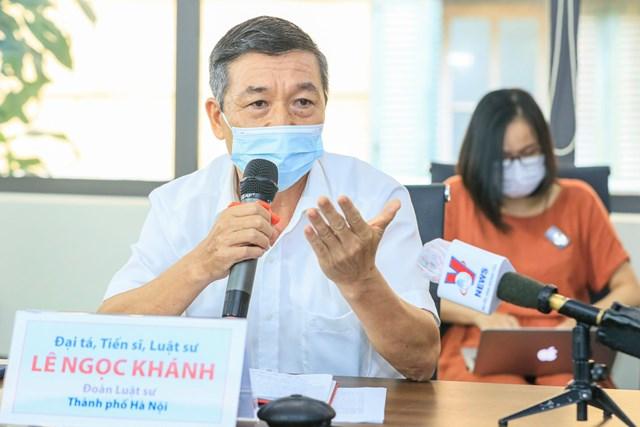 Đại tá TS luật sư Lê Ngọc Khánh.