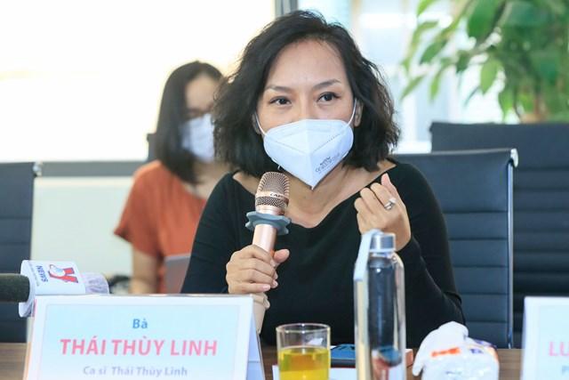 Ca sĩ Thái Thùy Linh. Ảnh: Quang Vinh.