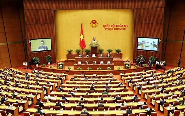 Quang cảnh phiên khai mạc Kỳ họp thứ 10, Quốc hội khóa XIV. Ảnh: Quang Hoàng.