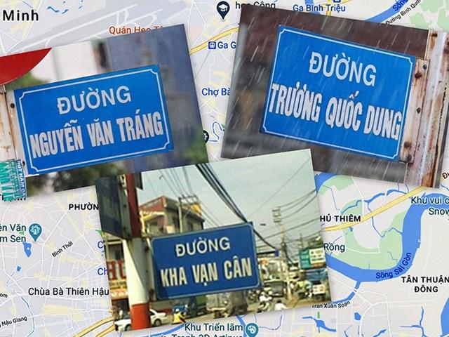 Sai tên danh nhân khi dùng đặt tên cho đường phố ở TP Hồ Chí Minh.