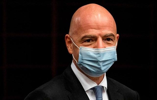 Chủ tịch FIFA Gianni Infantino mắc Covid-19. (Nguồn: skysports).