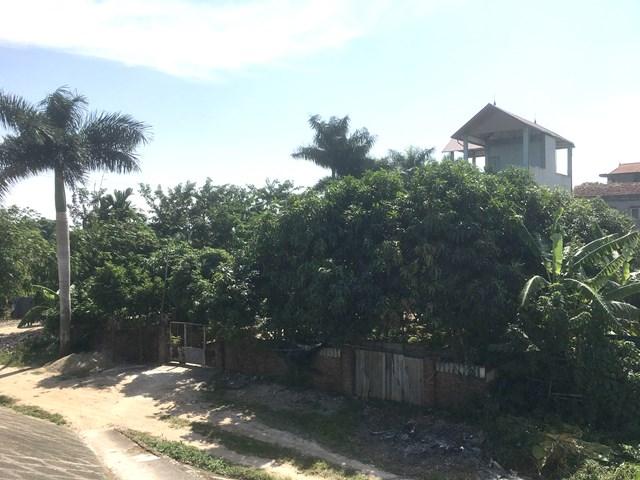 Hàng trăm mét đất công đã bị ông Minh chiếm làm nhà ở trái pháp luật.