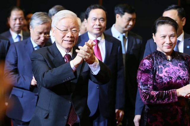 [ẢNH] Lễ kỷ niệm Ng&rgb(2, 2, 4);y truyền thống Mặt trận Tổ quốc Việt Nam - Ảnh 1