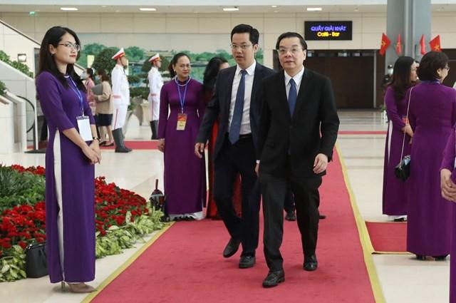 Chủ tịch UBND TP Hà Nội Chu Ngọc Anh tới dự Lễ kỷ niệm.