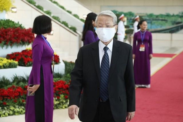 Nguyên Chủ tịch nước Trần Đức Lương tới dự Lễ kỷ niệm.