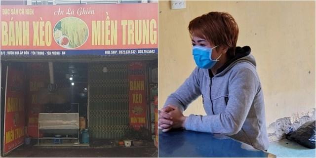 Chủ quán bánh xèo Nguyễn Thị Ánh Tuyết.