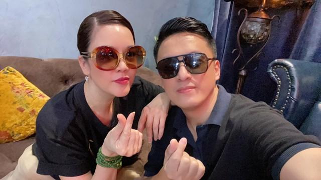 Anh Hai Lam Trường vui vẻ khi hội ngộ cùng ca sĩ Thu Phương tại Hà Nội.