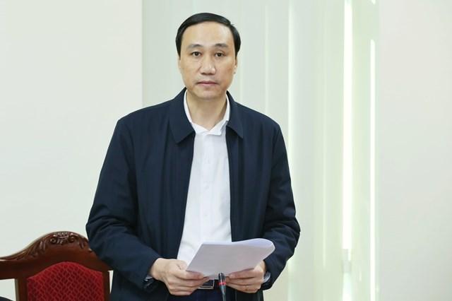 Phó Chủ tịch UBTƯ MTTQ Việt Nam Phùng Khánh Tài phát biểu tại cuộc làm việc.