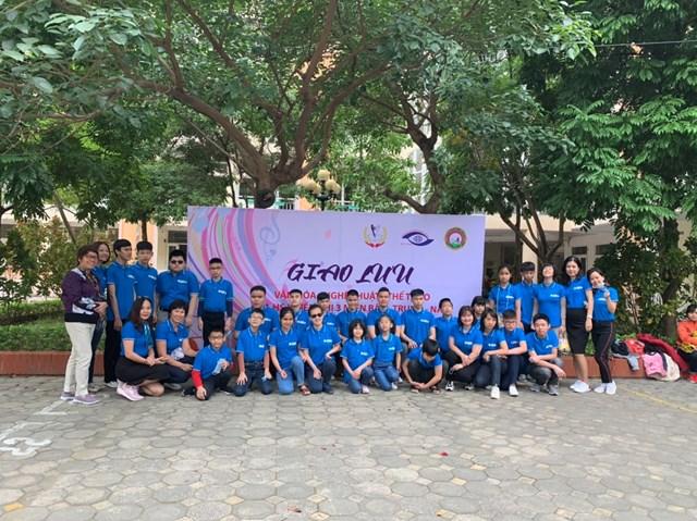 Đoàn tham gia buổi giao lưu của Trường PTCS Nguyễn Đình Chiểu.