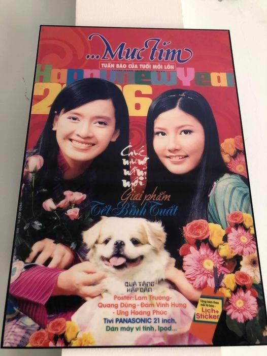 """Ái Phương khoe một bức ảnh chụp với Diễm My 9X từ năm 2006: """"Về nhà lục được tấm hình này hồi 2006 chụp với cô em xinh đẹp""""."""