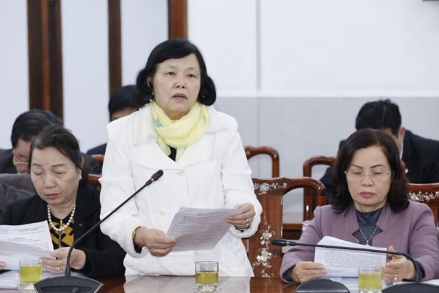 Bà Đặng Huỳnh Mai, Chủ tịch Liên hiệp Hội về Người khuyết tật Việt Nam phát biểu tại Hội nghị. Ảnh: Quang Vinh.