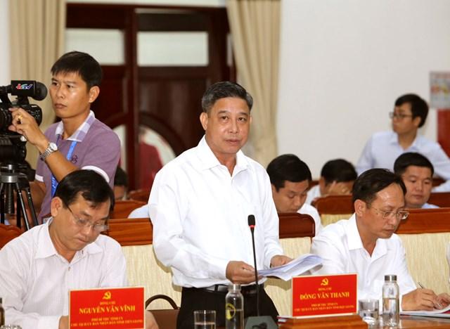 Chủ tịch UBND tỉnh Hậu Giang Đồng Văn Thanh phát biểu khai mạc.