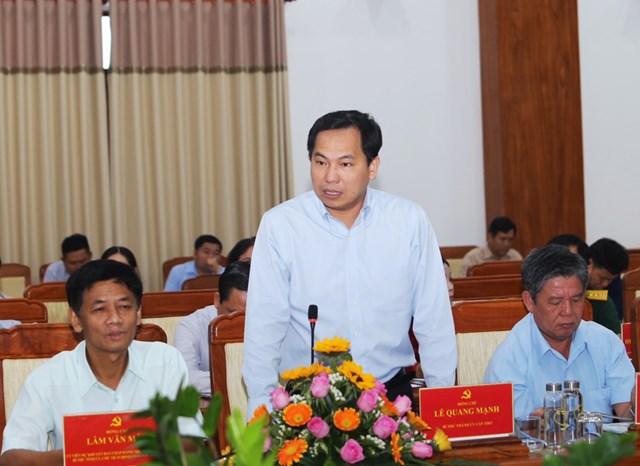 Bí thư Thành uỷ Cần Thơ Lê Quang Mạnh phát biểu tại buổi làm việc.
