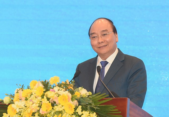 Thủ tướng Nguyễn Xuân Phúc phát biểu chỉ đạo tại Hội nghị. Ảnh: VGP/Quang Hiếu.