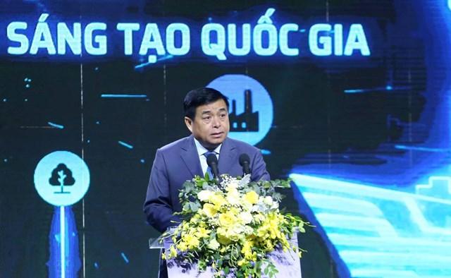 Bộ trưởng Bộ Kế hoạch và Đầu tư Nguyễn Chí Dũng phát biểu tại sự kiện. Ảnh: VGP.
