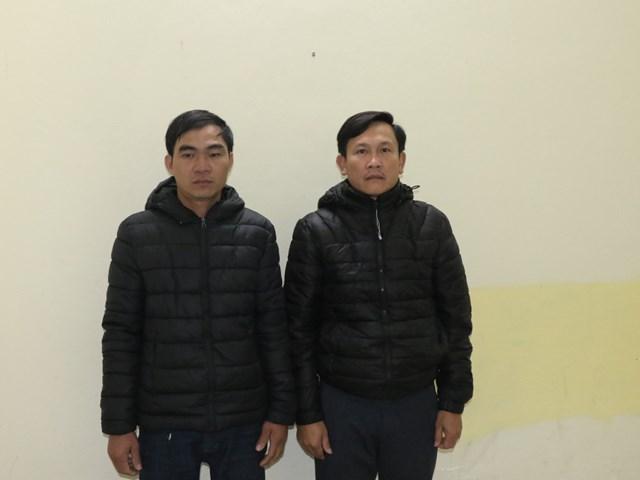 Hai bị can Lê Đình Đức và Đoàn Thanh Bằng.